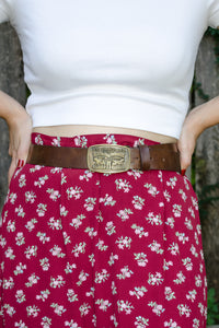 Vintage Levi's Brown Leather Belt / S