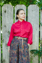 Load image into Gallery viewer, Vintage Red Western Shirt / S-L