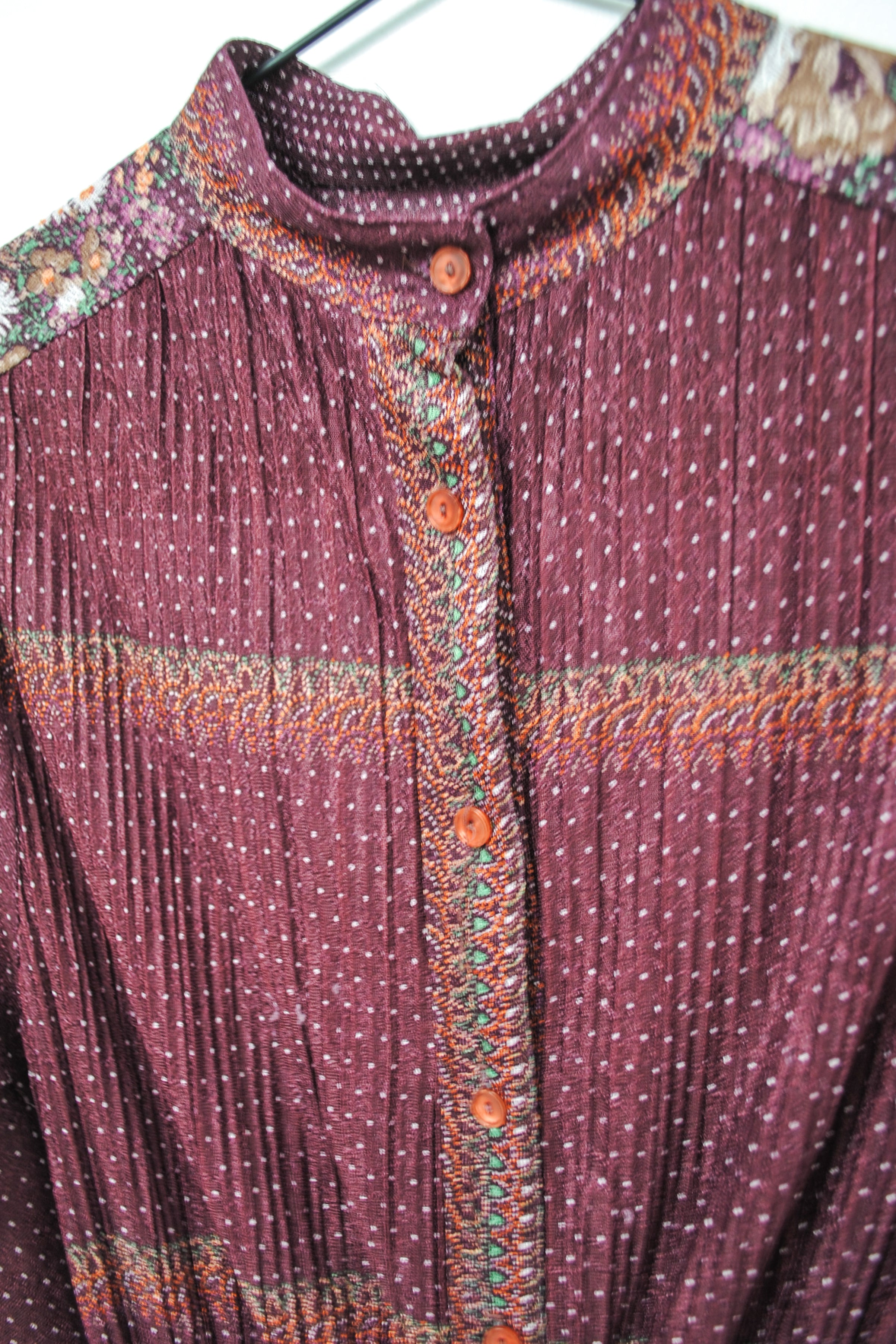 Vintage 70s Purple Shirt Dress / S-M
