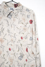Load image into Gallery viewer, Vintage 80s-90s Beige Floral Shirt / S