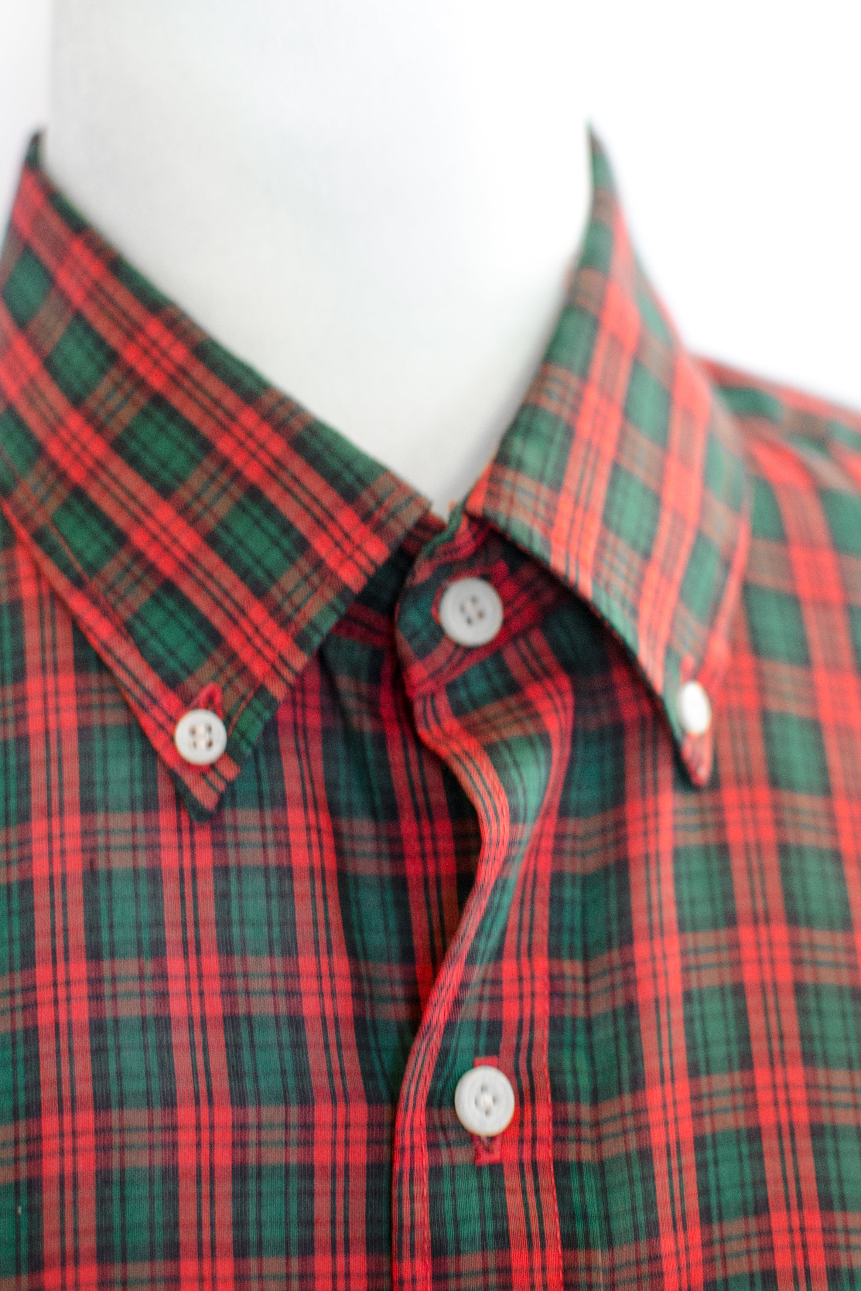 Vintage Red and Green Plaid Shirt / S-M