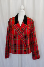 Load image into Gallery viewer, 90s Red Plaid Blazer / S-XL