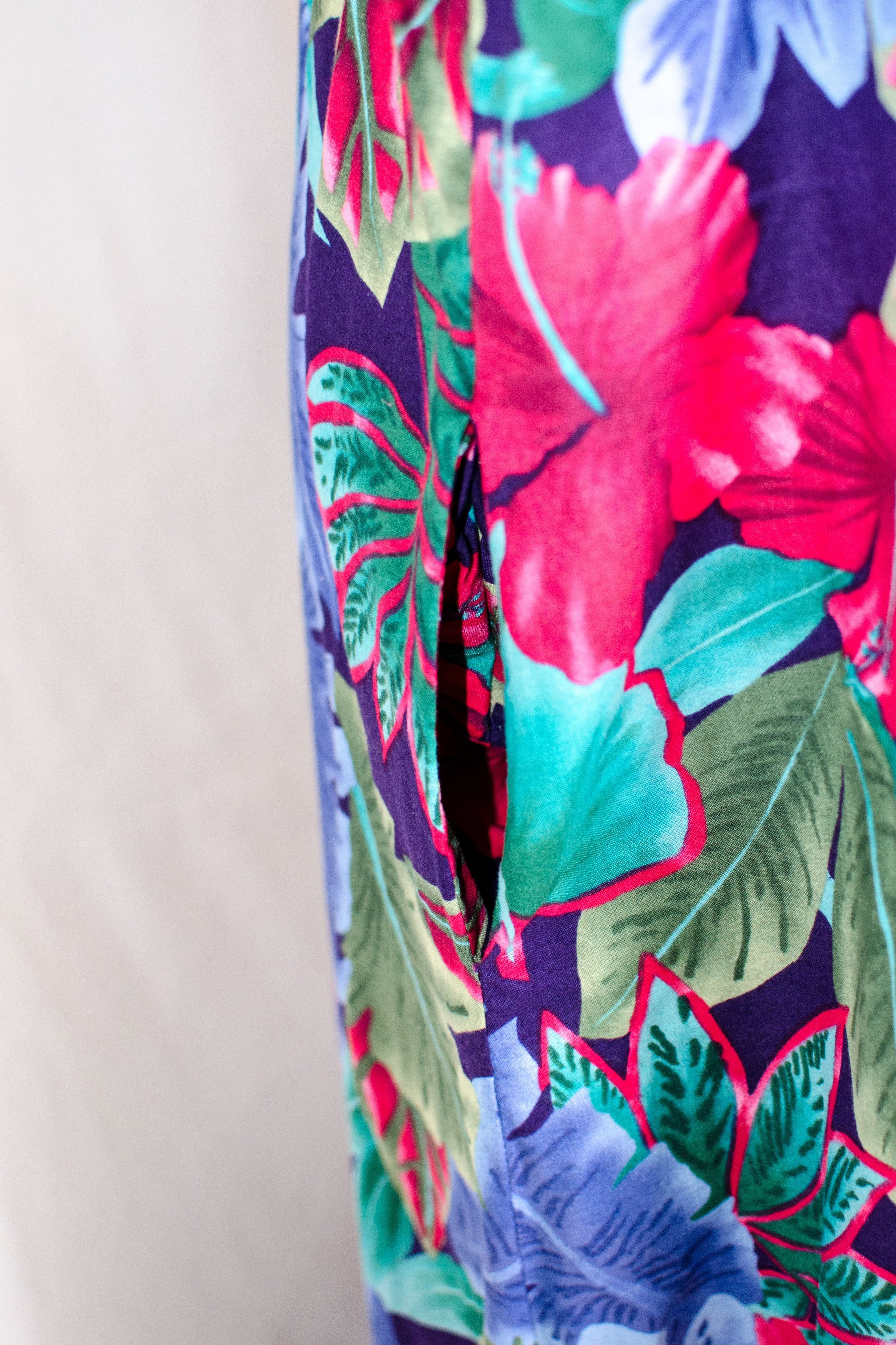 Vintage 90s Hawaiian Print Dress / M-XL