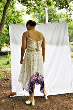 Load image into Gallery viewer, Vintage Purple Floral Handkerchief Dress / S