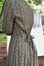 Load image into Gallery viewer, Vintage 80s-90s Grey Tapestry Print Maxi Dress / S-M