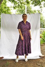 Load image into Gallery viewer, Vintage 70s Purple Southwestern Shirt & Skirt Set / S