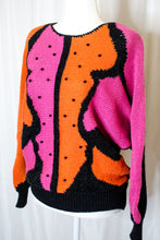 Load image into Gallery viewer, 80s PInk & Orange Sweater / S-M