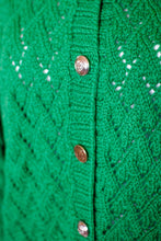 Load image into Gallery viewer, Vintage Kelly Green Cardigan / S-L