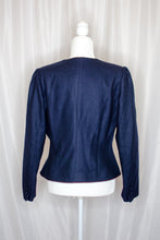 Load image into Gallery viewer, Vintage 80s Navy Jacket / M