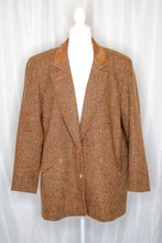 Load image into Gallery viewer, 80s-90s Brown Tweed Coat / L-XL