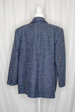 Load image into Gallery viewer, Vintage 80s-90s Navy Tweed Coat / L-XL