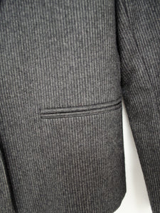 Vintage 80s Grey Pinstripe Skirt Suit Set by Harve Benard / XS-S