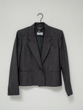 Load image into Gallery viewer, Vintage 80s Grey Pinstripe Skirt Suit Set by Harve Benard / XS-S
