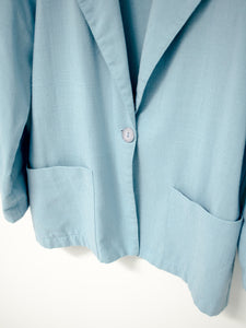 Vintage 80s Blue Blazer by Lisa Josephs / S-M
