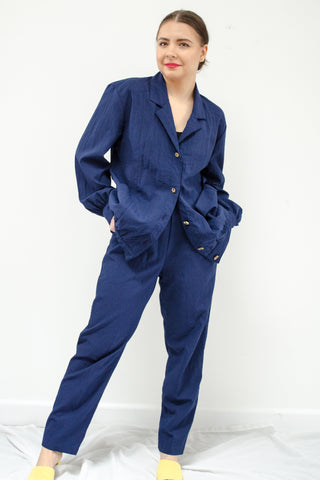 80s Navy Track Suit Set by Remo of California / S-M