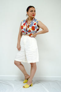 Vintage Cotton Sleeveless Shirt / S-L