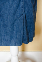 Load image into Gallery viewer, Vintage 80s Denim Dress / M