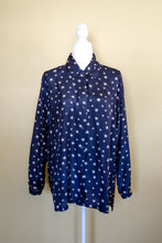 Load image into Gallery viewer, Vintage 80s Navy Star Print Shirt / S-L