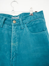 Load image into Gallery viewer, Vintage 80s Teal Jeans by Guess / M