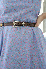 Load image into Gallery viewer, Vintage Handmade Blue Floral Dress / XS-S
