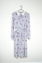 Load image into Gallery viewer, Vintage 80s Purple Floral Dress / M-L