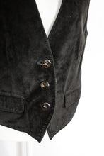 Load image into Gallery viewer, Vintage Black Suede Vest / S