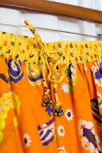 Load image into Gallery viewer, Yellow & Orange Paisley Tiered Broomstick Skirt / S-L