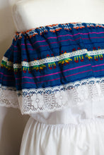 Load image into Gallery viewer, Vintage White Off the Shoulder Mexican Dress / XS-M