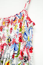 Load image into Gallery viewer, Vintage Floral Smocked Tank / XS-S