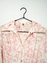 Load image into Gallery viewer, Vintage White Floral Dress / S-M