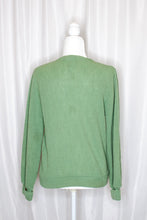 Load image into Gallery viewer, Vintage 50s Sage Green Wool Cardigan / S-M