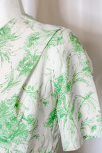 Load image into Gallery viewer, Vintage 50s-60s Green Floral Dress / XS