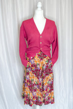 Load image into Gallery viewer, Vintage 50s-60s Neon Pink Alpaca Cardigan / S-M