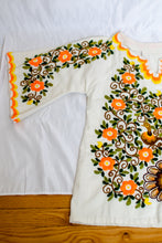 Load image into Gallery viewer, Vintage Mexican White Embroidered Peacock Tunic / S-L