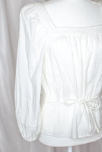 Load image into Gallery viewer, Vintage White Bohemian Blouse / S-M