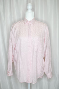 Vintage 80s-90s Pink Button Down Shirt  / S-L