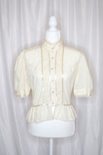 Load image into Gallery viewer, Vintage White Edwardian Blouse / XS-S