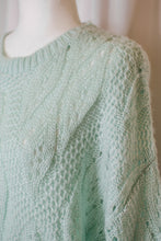 Load image into Gallery viewer, Vintage 80s Mint Green Sweater  / S-L
