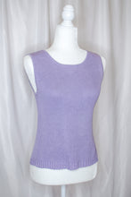 Load image into Gallery viewer, Vintage 90s Lavender Ribbed Tank / S-M