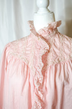 Load image into Gallery viewer, Vintage Pink Eyelet Bed Jacket / S-M