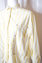Load image into Gallery viewer, Vintage 80s Yellow Striped Shirt / S-L