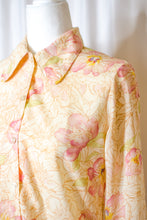 Load image into Gallery viewer, Vintage 70s Yellow Floral Shirt / S-M