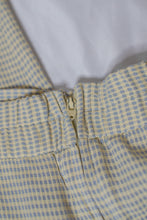 Load image into Gallery viewer, Vintage Blue & Yellow Gingham Pant Set / S-M