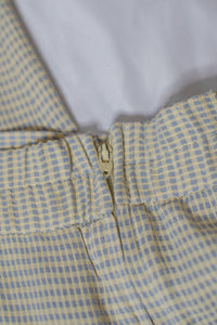 Vintage Blue & Yellow Gingham Pant Set / S-M
