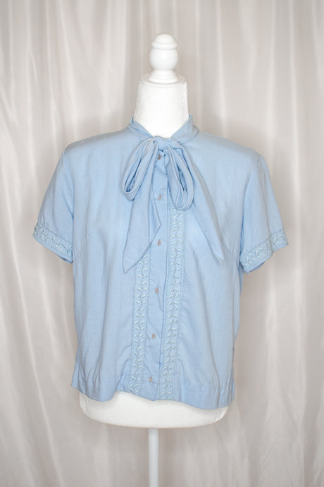 Vintage 60s-70s Light Blue Shirt / S-M