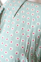 Load image into Gallery viewer, Vintage 90s Seafoam Blue Floral Shirt Dress / S