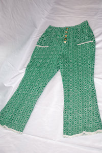 Vintage Green Cropped Pants / XS