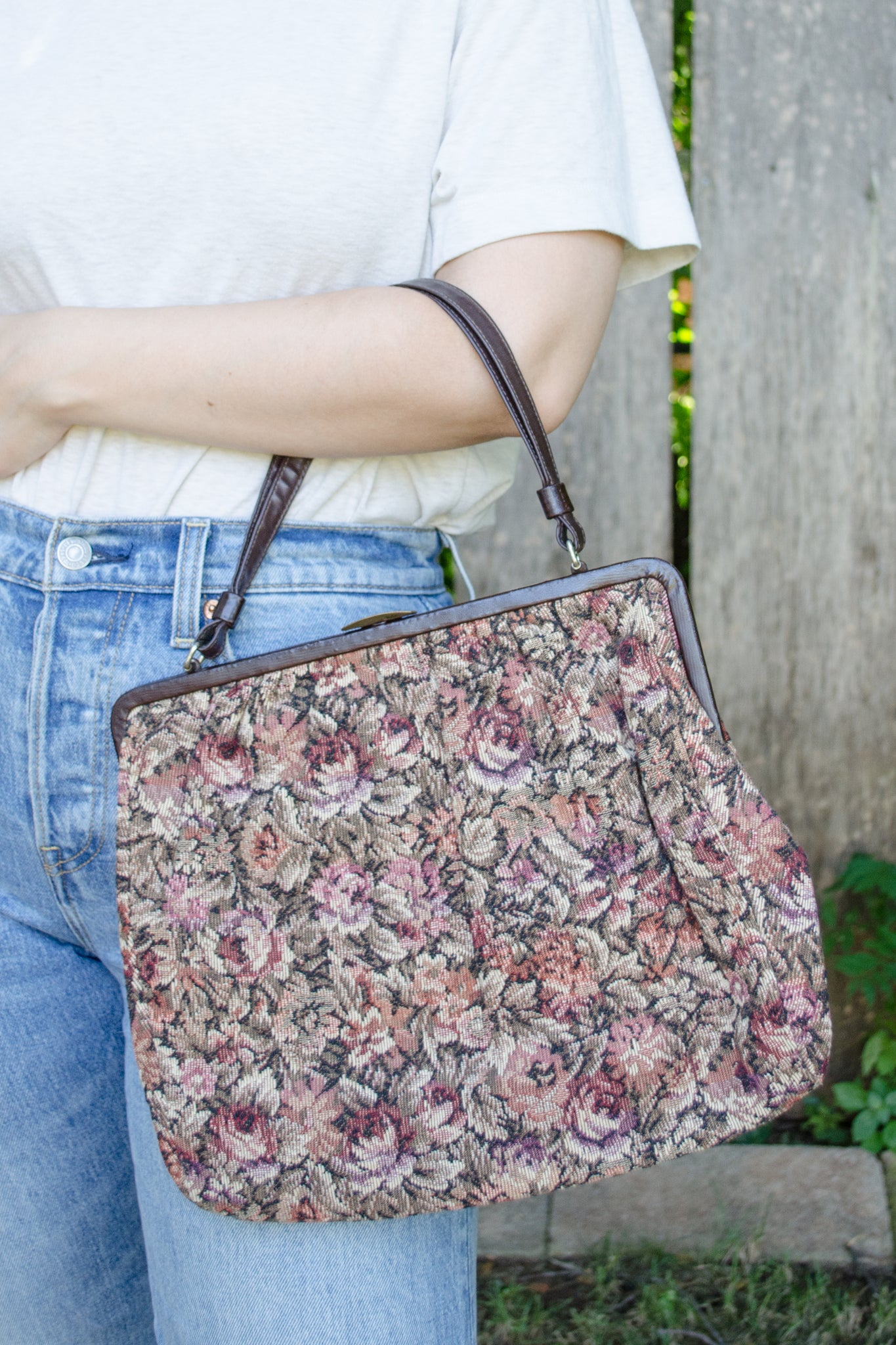 60s Rose Tapestry Bag by Ingber