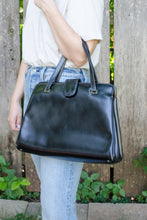 Load image into Gallery viewer, Vintage Black Leather Bag