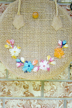 Load image into Gallery viewer, Vintage Philippines Round Straw Bag
